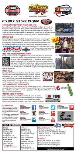 Newsletter  - LaCrosse Fairgrounds Speedway
