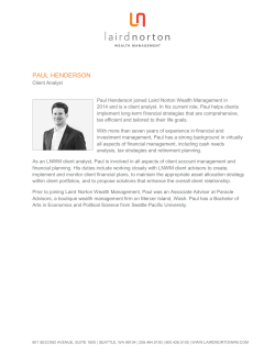 PAUL HENDERSON - Laird Norton Wealth Management