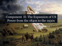 (The Expansion of US Power from the 1840s to the 1930s).