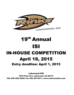 19 Annual ISI - Lakewood Ice