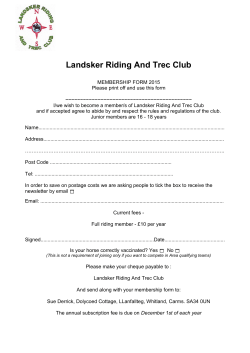 Landsker Riding And Trec Club