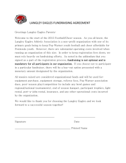 LANGLEY EAGLES FUNDRAISING AGREEMENT