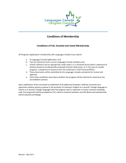 LC Conditions of Membership