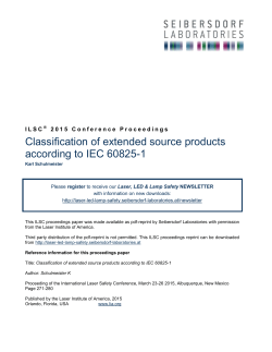 Classification of extended source products according to IEC 60825-1
