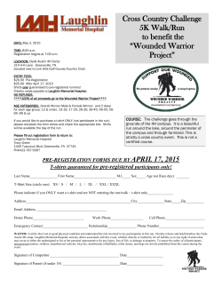"Cross Country Challenge 5K Walk/Run to benefit the ""Wounded"