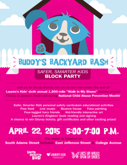 BUDDY`S BACKYARD BASH