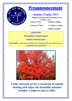 Autumn Trophy 2015 Come and join us for a weekend of capital