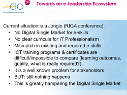 Current situation is a Jungle (RIGA conference): • No Digital Single