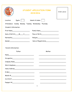 Application Form - Learning Steps Montessori Nursery