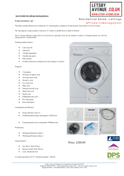 Bush F721QW 7kg 1200 Spin Washing Machine