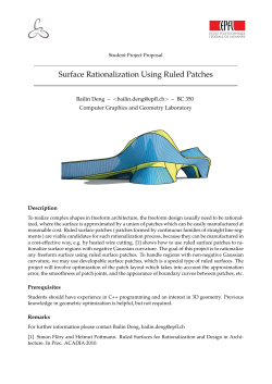 Surface Rationalization Using Ruled Patches