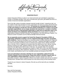 donation request letter - Liberty Vineyards & Winery