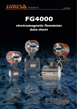 data sheet - LIMESA meters s.r.o.