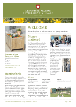Newsletter - Lincombe Manor