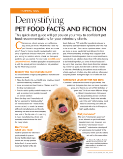 Pet Food- Facts & Fiction - Livonia Veterinary Hospital