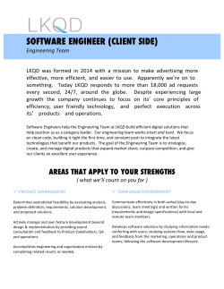 SOFTWARE ENGINEER (CLIENT SIDE)