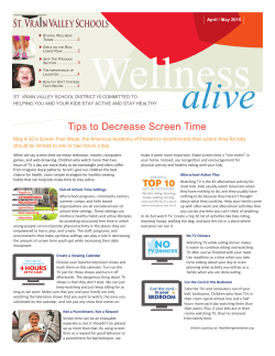 Tips to Decrease Screen Time - Lyons Middle/Senior High School