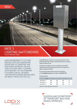 Rate 3 Lighting Switchboard Specifications