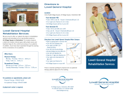 Lowell General Hospital Rehabilitation Services
