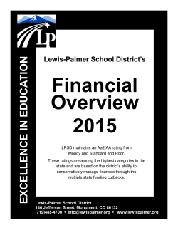 Financial Overview 2015 - Lewis