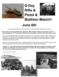 D-Day Rifle & Pistol & Biathlon Match!! June 6th