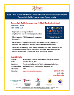2015 Louis Stokes Midwest Center of Excellence Annual