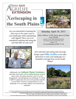 Xeriscaping in the South Plains - Texas AgriLife Extension Service
