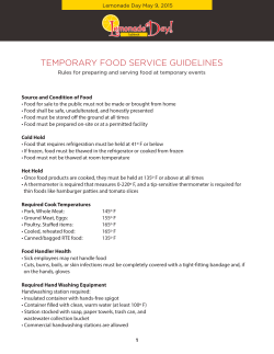 Foodservice Guidelines