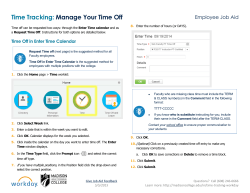 Manage Your Time Off