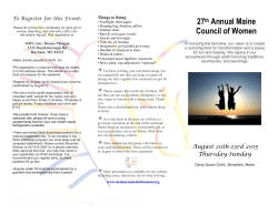27th Annual Maine Council of Women