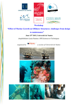 "Workshop ""Effect of Marine Growth on Offshore Structures"