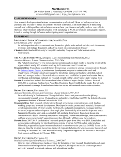 Resume - Marty Downs