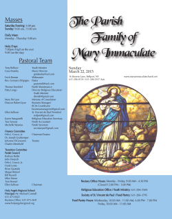 The Parish Family of Mary Immaculate