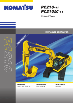 to brochure of Crawler Excavator