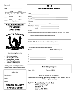 Membership Form - Mason County Saddle Club