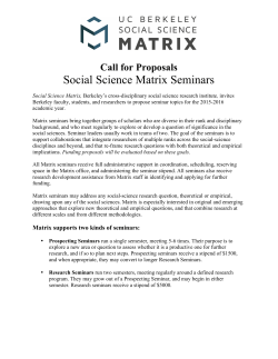 Social Science Matrix Seminars