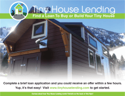 Find a Loan To Buy or Build Your Tiny House