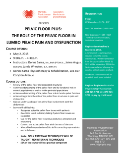 pelvic floor plus - Manitoba Physiotherapy Association