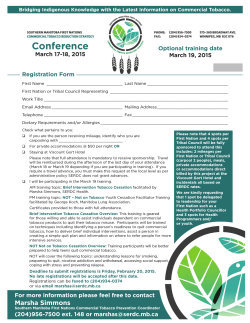 Conference - Commercial Tobacco Reduction Strategy Home