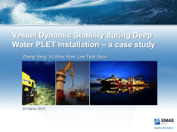 Vessel Dynamic Stability during Deep Water PLET Installation