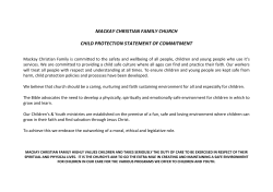 Statement of Commitment - Mackay Christian Family Church