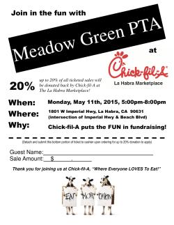 Chic-fil-A Dine Out - Meadow Green PTA`s