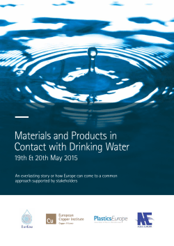 Materials and Products in Contact with Drinking Water