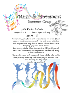 2015 Rachel Summer School - Medford Montessori School