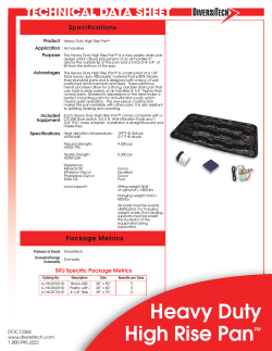 Heavy Duty High Rise Drain Pan - media