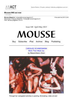 Issue #48 AprilMay 2015 Buy Subscribe iPad Archive Blog Publishing
