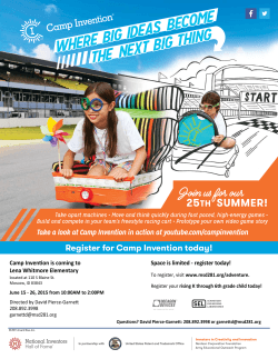 Register for Camp Invention today!