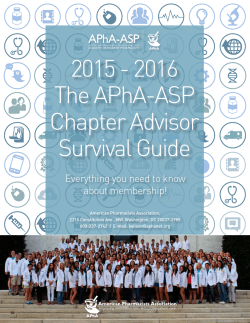 Chapter Advisor Survival Guide - American Pharmacists Association