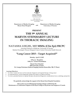 THE 9th ANNUAL MARVIN STEINHARDT LECTURE IN THORACIC