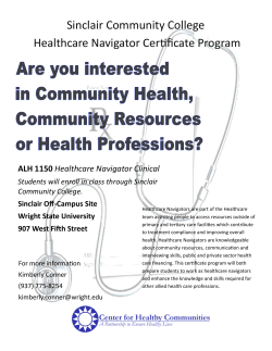 Sinclair Community College Healthcare Navigator Certificate Program